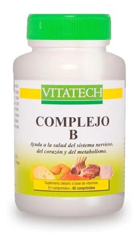 Imagen 1 de 3 de Complejo B Vitaminas X 60 Comprimidos Vita Tech