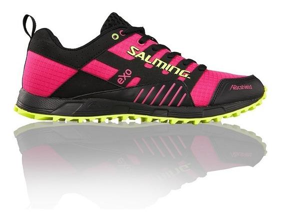 Zapatillas Mujer Salming Running Fucsia Importadas Trail T4
