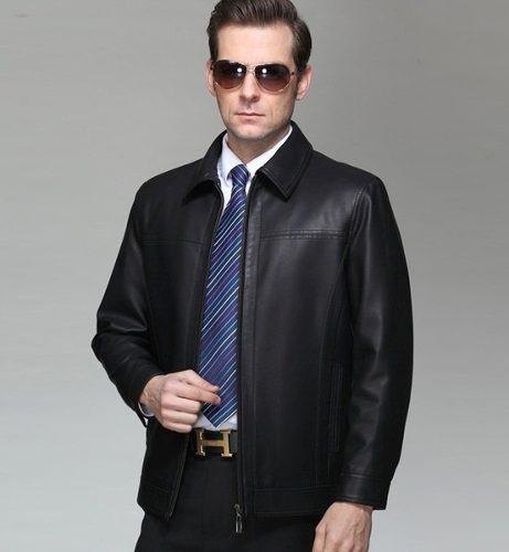 Jaqueta Importada Masculina Elegante Couro Legítimo Preto