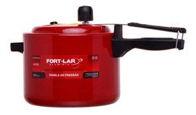 Panela De Pressão 4,5 Litros Fort Lar Alumínio Vermelha