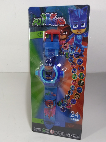 Relógio Projetor Infantil Pj Masks Menino Gato
