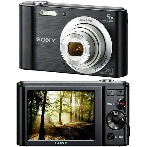 Câmera Digital Sony W800 Preta 20.1mp, 5x Zoom Óptico
