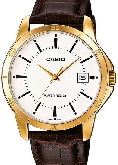 Relógio Casio Masculino Classico Couro Mtp-v004gl-7audf-br