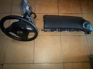 Airbag Volante Con Caña Completo Y Airbag Copiloto Mazda 3