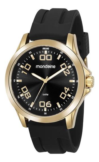 Relógio Mondaine Masculino Analógico Esportivo Dourado