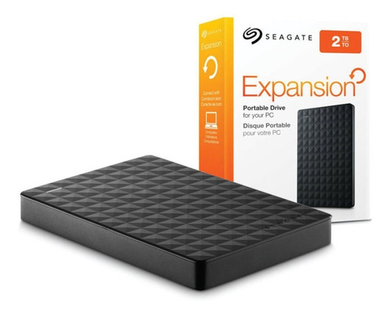 Hd Externo Portátil 2tb - Usb 3.0 Seagate Expansion - Stea2000400 - Preto
