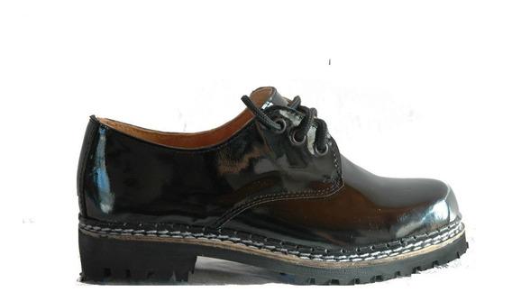 Zapatos Dirty Boots Charol Suela Febo Ruta Talles 37-43