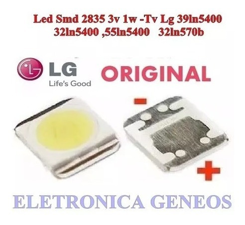 Kit 100 Led Backlight Tv Lg 2835 Smd 1w 3v