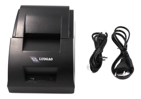 Impressora Termica Cupom Nao Fiscal 58mm Tickts Pc Ifood