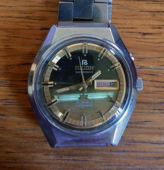 Relógio Ricoh - 21 Jewels - Automático - Antigo De Coleção