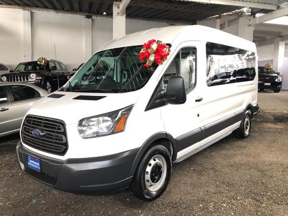 Ford Transit 15 Pasajeros Bus 2015 Aut!! Excelente Manejo!!