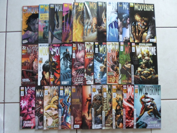 Wolverine Lote 31 Hqs 1,2,3 E Outras Ed. Panini (black F.)