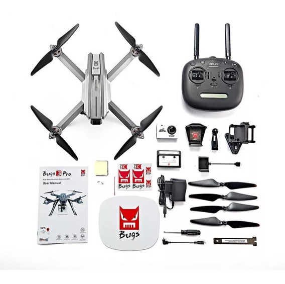 Drone Mjx Bugs 3 Pro Completo + 2 Baterias