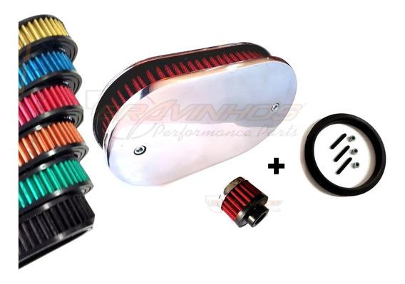 Kit Filtro Esportivo Completo Carburador Solex 2e 3e Vw Gol
