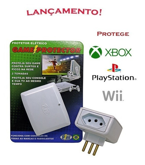 24 Protetores Xbox Playstation Wii - Game Protector - 127v