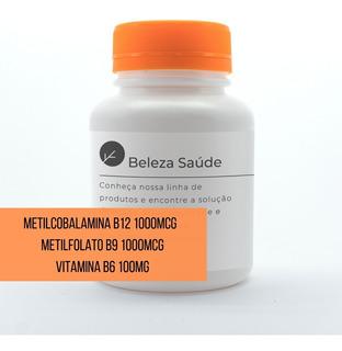 Metilcobalamina B12 1000 + Metilfolato B9 1000 + B6 150 Caps