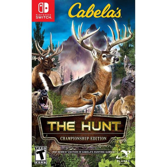 Cabelas The Hunt Switch Mídia Física Lacrado Original Novo