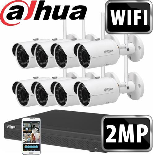 6 Cuotas Kit Ip Seguridad Dahua 8 + 8 Camaras Wifi M3k