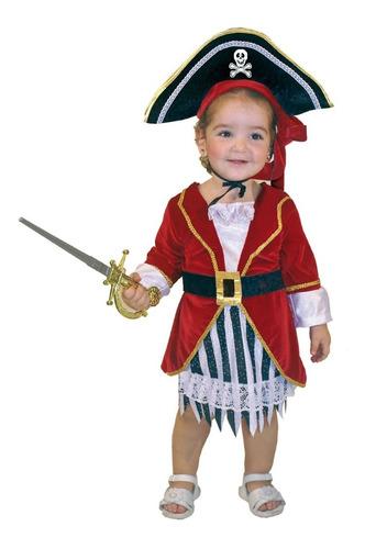 Disfraz Pirata Bebe Niña Carnavalito Sombrero