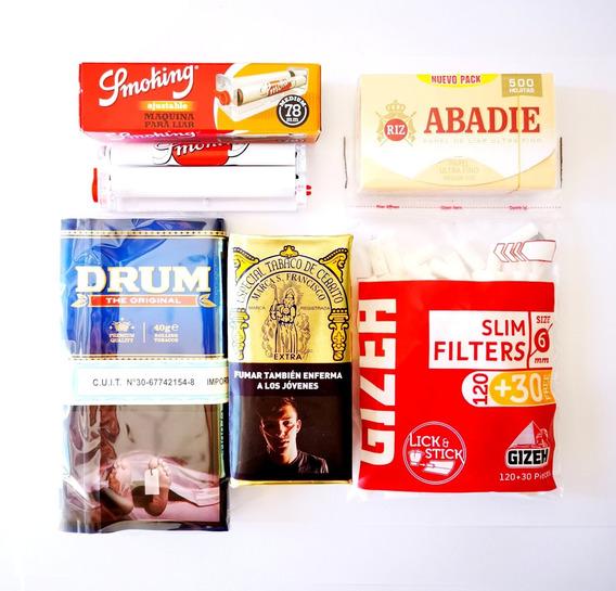 Kit Tabaco Para Armar + Papel Y Filtros Combo Armar / Promo