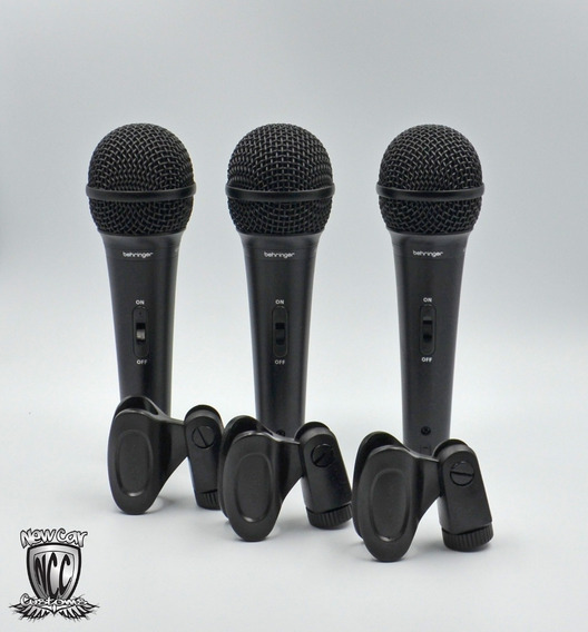 Kit Xm1800s Behringer C/ 3 Microfone + Maleta Xm1800 Xm 1800