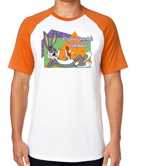 Camiseta Luxo Pernalonga Coelho Velhinho Desenho Antigo Top