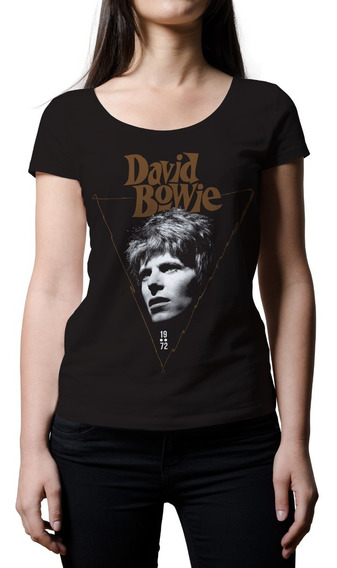 Remera Mujer Rock David Bowie 1972   B-side Tees