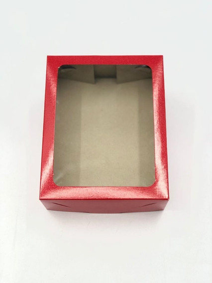 20 Caixas De Presente 19x15x6: Com Visor / Tampa E Fundo