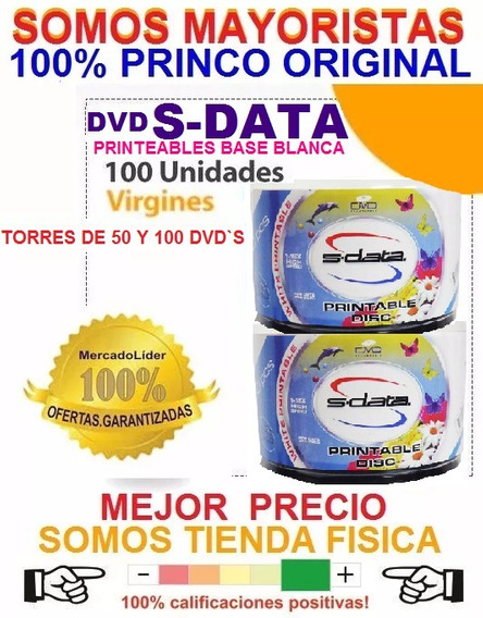 Dvd Virgen S-data Printeables 1-16x 4.7 Gb Sp 120 Min Blanca