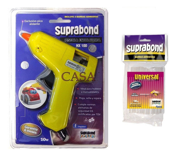 Pistola Encoladora Suprabond Hx100 10w + 100gr Barras 7,4mm