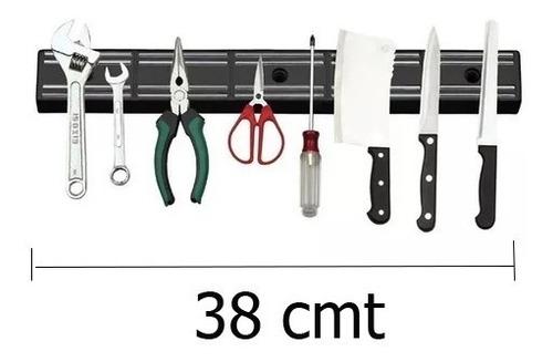 Imagen 1 de 4 de Barra Magnética 38 Cm Imantada Cuchillos Herramientas Mli