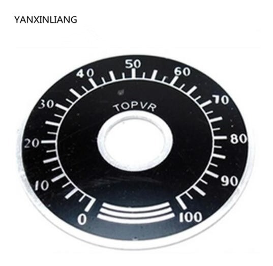 Escala Para Potenciometro 6mm-0 A 100 - Unitario