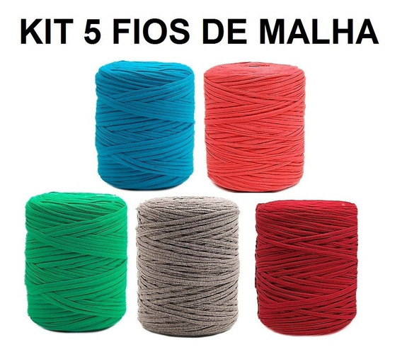 Fio De Malha 100 Metros Crochê Kit Com 5 Unid.