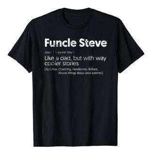 Womens Funcle Steve Tio Steve, Steven, Stevie Camiseta Med