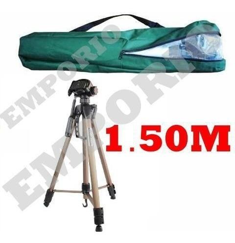 Tripé 1,50m P Canon T2i T3i T4i T5i T6i T7i Binoculo Sakura