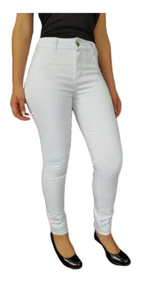 Calça Branca Feminina Sarja Com Lycra Impermeável
