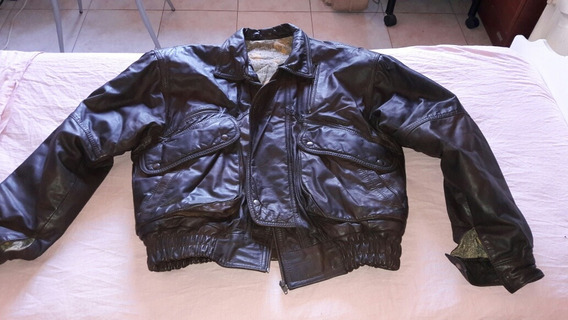 Campera Rockera De Cuero Marron