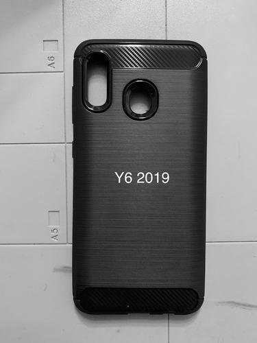 Estuche Textura Carbon Fiber Huawei Y6 2019
