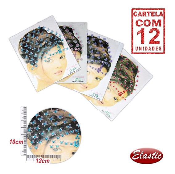 Piercing Adesivo Liso Prata Cores Diversas Cartela Com 12und