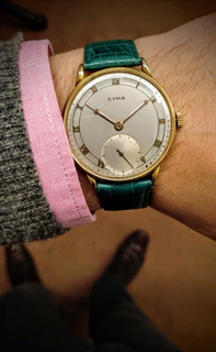 Reloj Cyma Cuerda Manual! 1950 Funcionando Impecable!