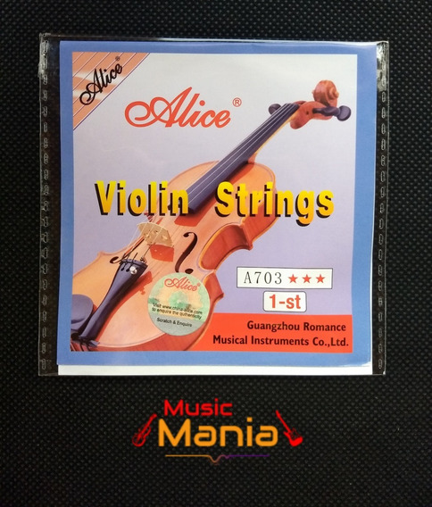 Cuerda Violin (mi) 1era Individual Alice