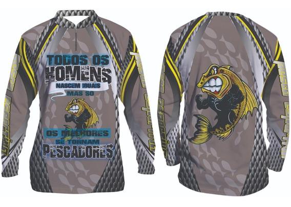 Camisa De Pesca Esportiva Infantil Personalizada #101