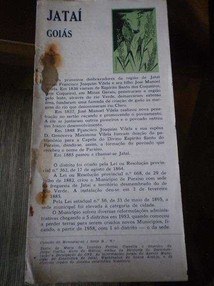 Monografia Antiga Ibge Cidade Jataí Estado Goiás