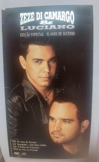 Zezé Di Carmargo & Luciano - Box 15 Anos 01 Dvd + 03 Cd