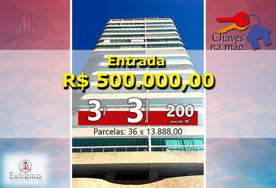 Cobertura Com 3 Dormitórios À Venda, 200 M² Por R$ 1.350.000,00 - Vila Guilhermina - Praia Grande/sp - Co0002