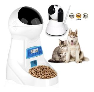 Dispensador Alimento Automático + Camara Ip Mascotas R2940