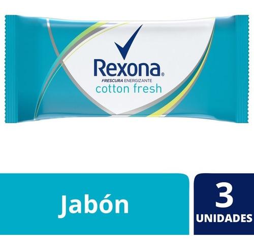 Rexona Jabón En Barra Cotton Fresh 3x125g