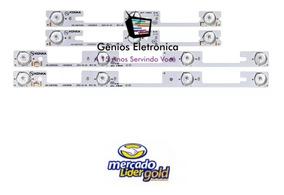 Kit C/4 Barra Completo Tv Semp Toshiba 32l2400 Nova Aluminio