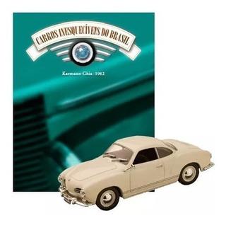 Linda Miniatura Karmann-ghia 1962 - Acompanha Revista !!!