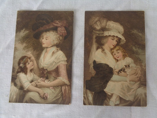 Cartãopostal Temático Chapéu Mulher 1918-1919 2 Unidades